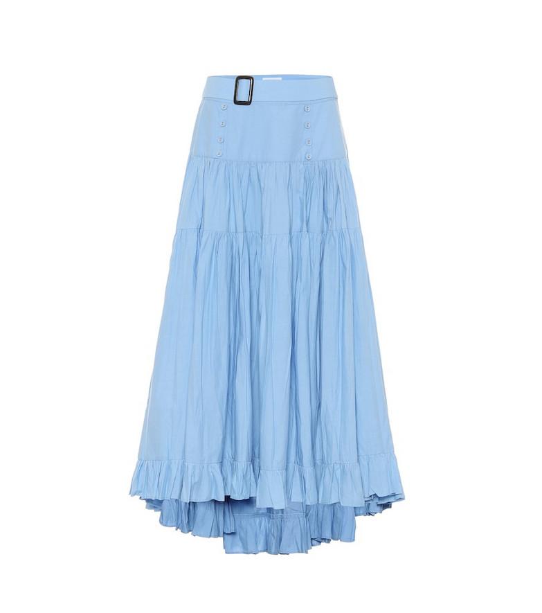 Alexandra Miro Penelope cotton midi skirt in blue