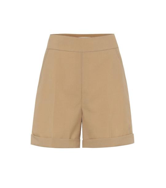 Marni High-rise wool shorts in beige