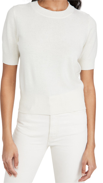 Nili Lotan Andie Cashmere Crew Neck Sweater in ivory