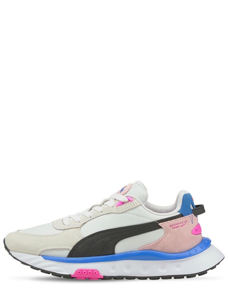 PUMA Wild Rider Rollin' Sneakers in pink / white