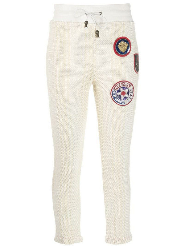 Mr & Mrs Italy fitted sweatpants in white
