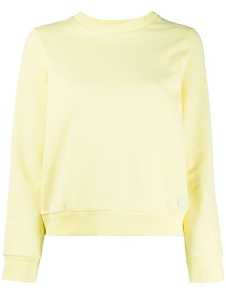 A.P.C. plain crew neck sweatshirt in yellow