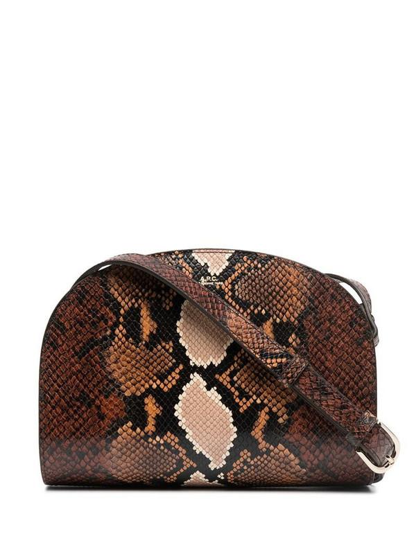 A.P.C. snakeskin-effect bag in brown