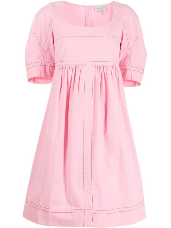 Lee Mathews May cocoon-sleeve dress in pink