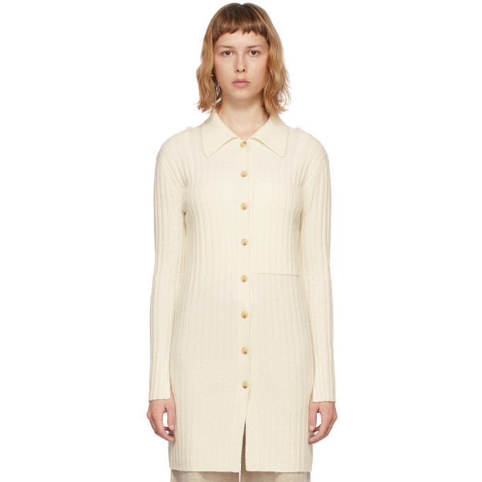 Lisa Yang Off-White Cashmere The Lydia Cardigan in cream