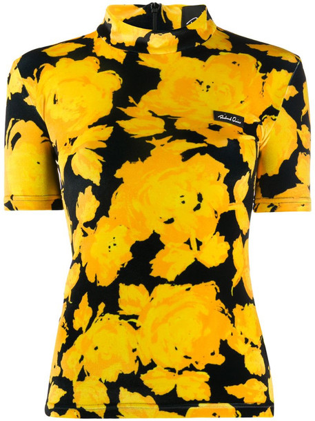 Richard Quinn floral print blouse in yellow