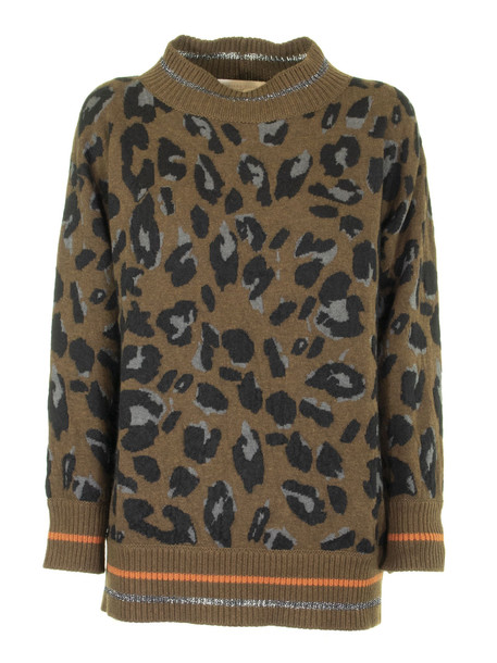 Fabiana Filippi Crew-neck Wool And Cashmere Pullover in green