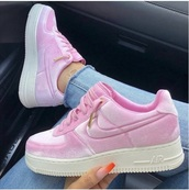 shoes,nike,nike air force,pink nike,trainers,pink,pink sneakers