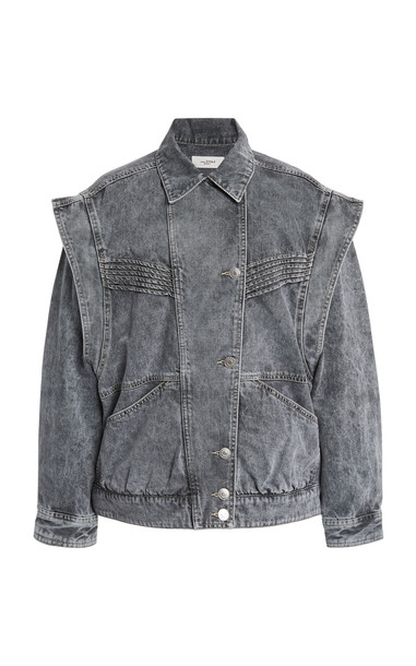 Isabel Marant Étoile Harmon Convertible Denim Jacket in grey