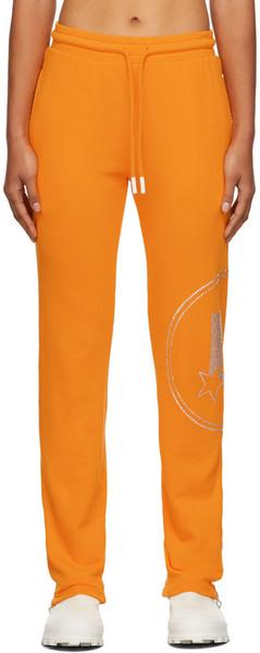 Lourdes Crystal Graphic Lounge Pants in orange