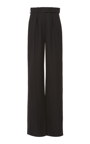 Alexandre Vauthier Pleated Tuxedo Trouser in black