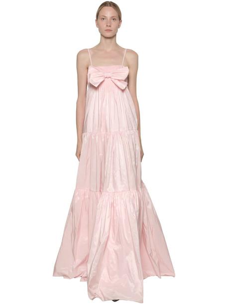 BROGNANO Ruffled Nylon Maxi Dress in pink