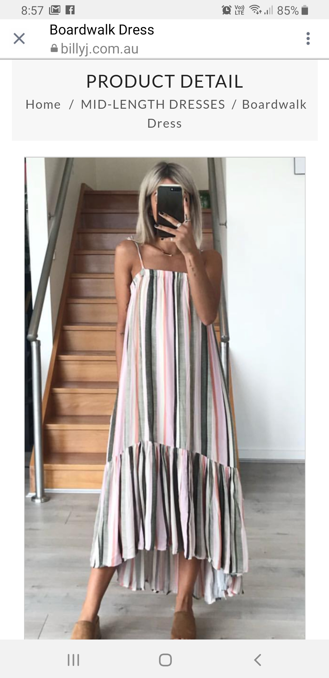 dress striped midi dress