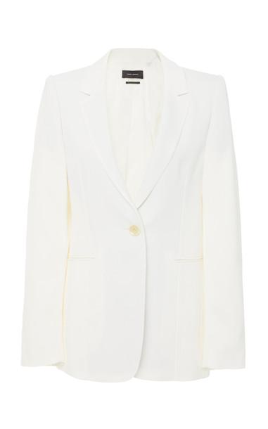 Isabel Marant Praise Twill Blazer Size: 36 in white