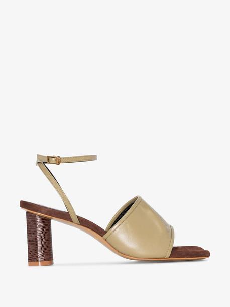 Salondeju green Volure 70 leather sandals