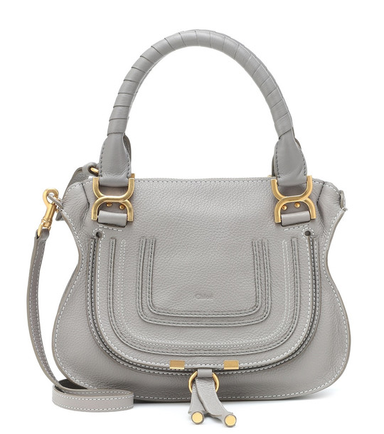 Chloé Marcie Small leather tote in grey