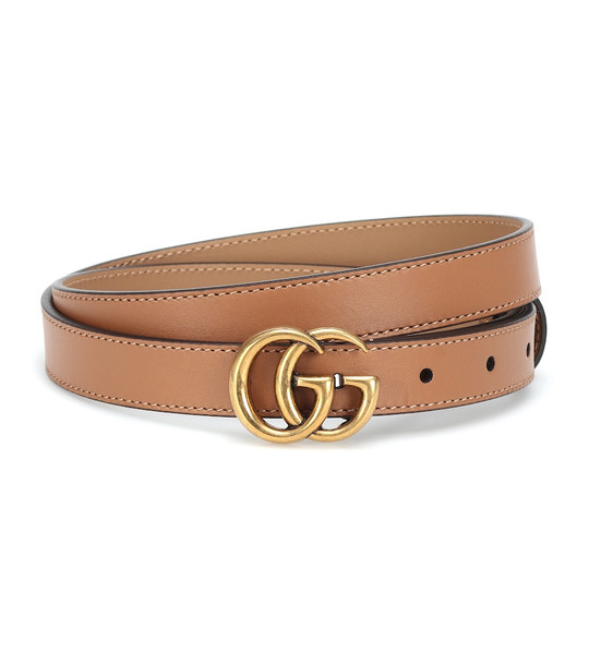 Gucci GG leather belt in brown