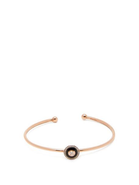 Selim Mouzannar - Mina Diamond And 18kt Rose Gold Bracelet - Womens - Black