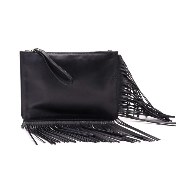 Gianni Chiarini Leather Clutch in black