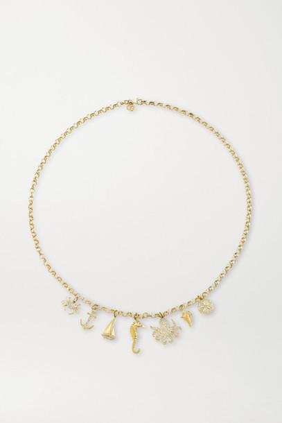 Sydney Evan - Nautical 14-karat Gold Diamond Necklace
