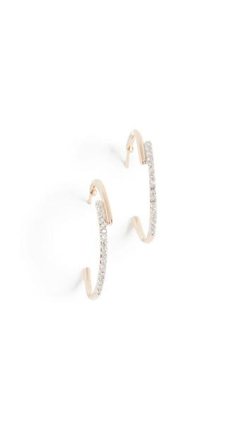 Adina Reyter 14k Medium Crossover Hoop Earrings in gold