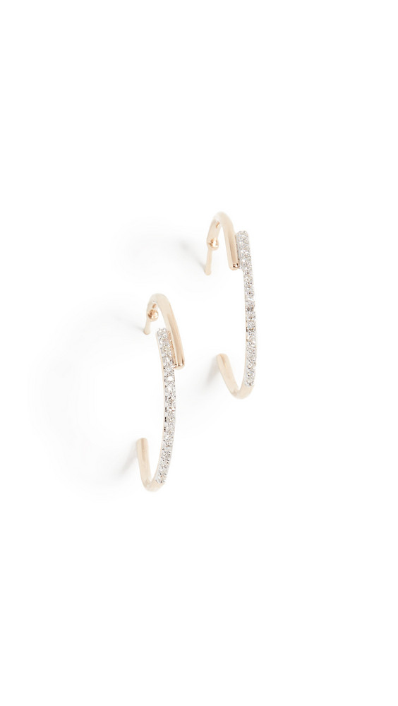Adina Reyter 14k Medium Crossover Hoop Earrings in gold