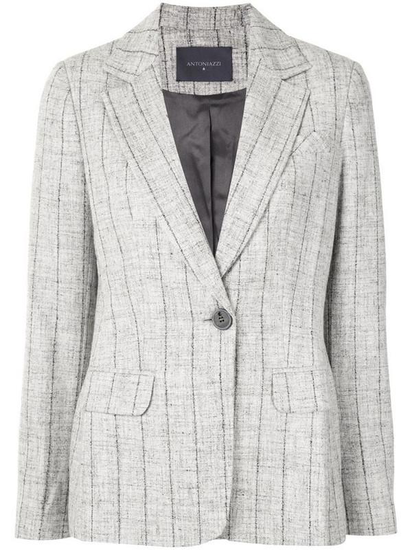 Lorena Antoniazzi striped print blazer in grey