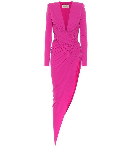 Alexandre Vauthier Asymmetric stretch-jersey gown in pink
