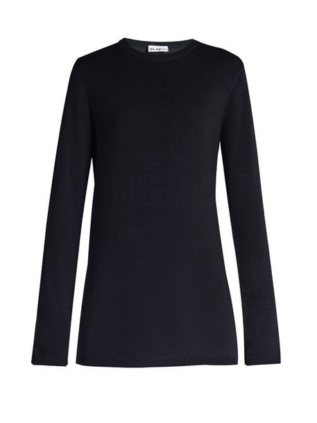 Raey - Long Line Fine Knit Cashmere Sweater - Womens - Navy