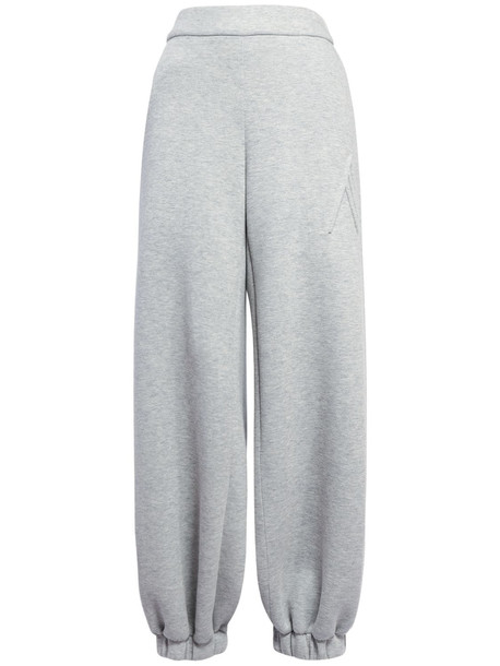 THE ATTICO Carter Cotton Jersey Neoprene Pants in grey