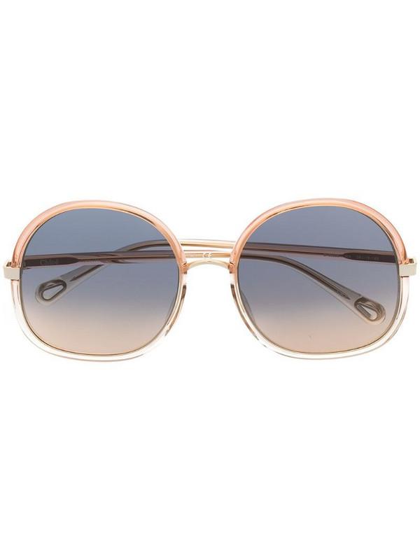 Chloé Eyewear oversized sunglasses in pink