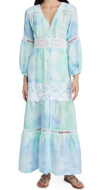 Temptation Positano Positano Tie Dye Dress in blue