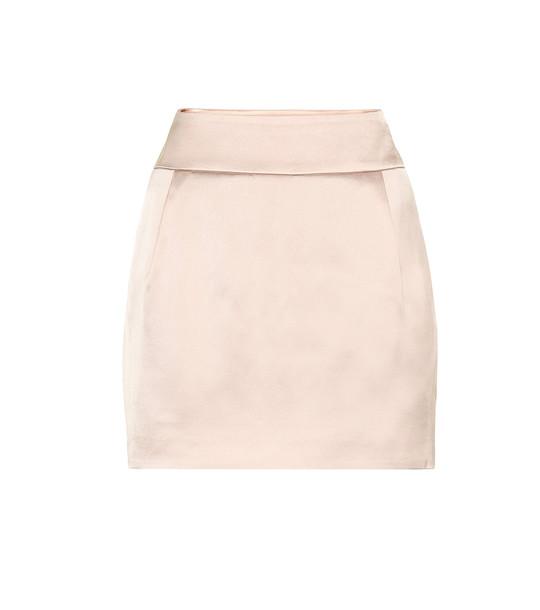 Alexandre Vauthier Satin miniskirt in pink