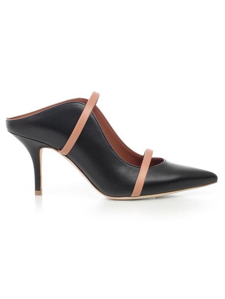 Malone Souliers Pumps Nappa W/patent Details Heel 85 in black