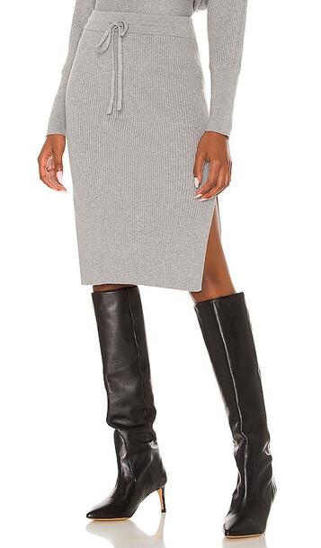 Bobi BLACK Midi Skirt in Grey