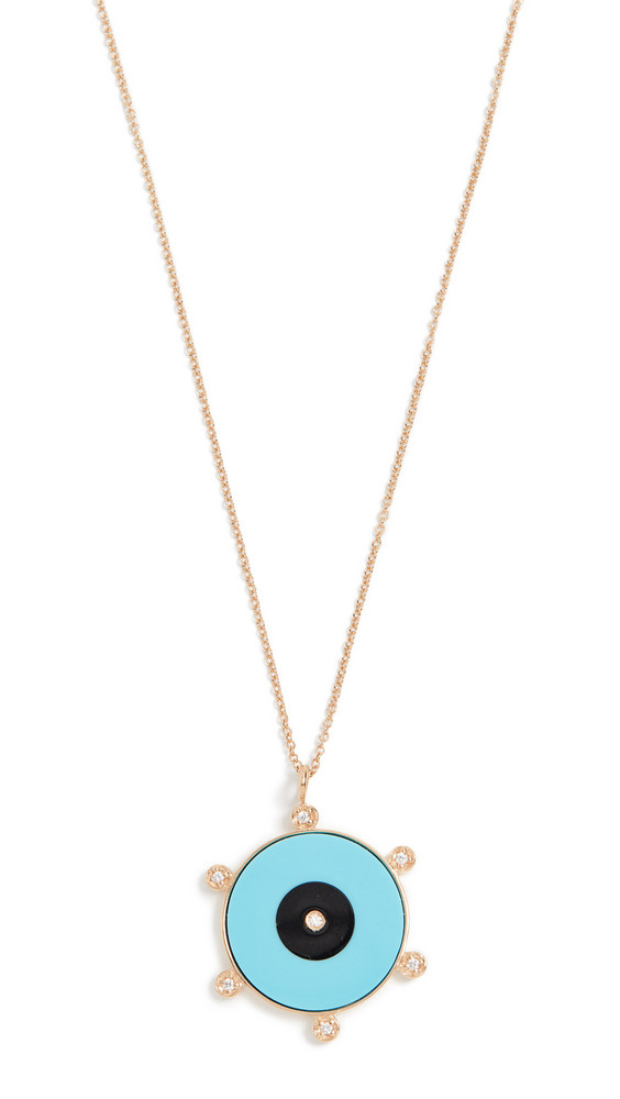 Jennifer Zeuner Jewelry Liya Necklace in turquoise / yellow