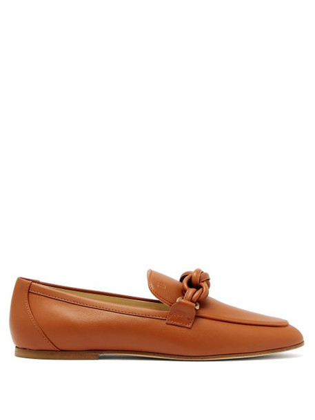 Tod's - Knotted Leather Loafers - Womens - Tan