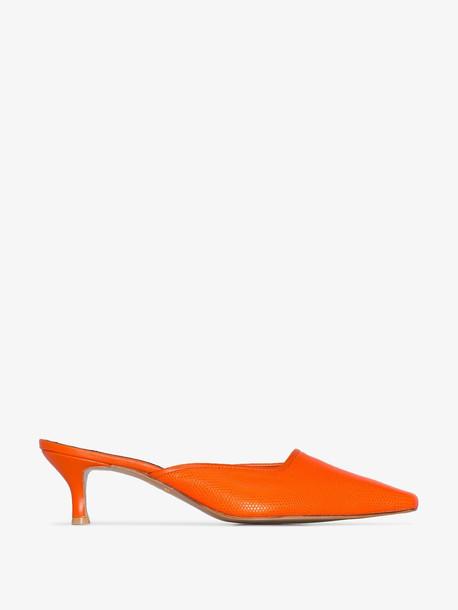 Salondeju SALON LIZARD 50 MULE PMP SQTOE in orange