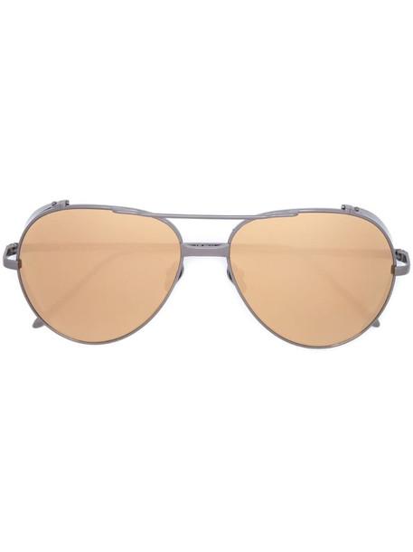 Linda Farrow aviator sunglasses in silver