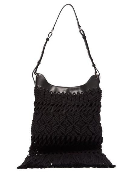 Isabel Marant - Teomia Macramé Shoulder Bag - Womens - Black