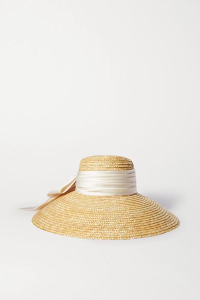 Eugenia Kim - Mirabel Satin-trimmed Straw Hat - Neutral