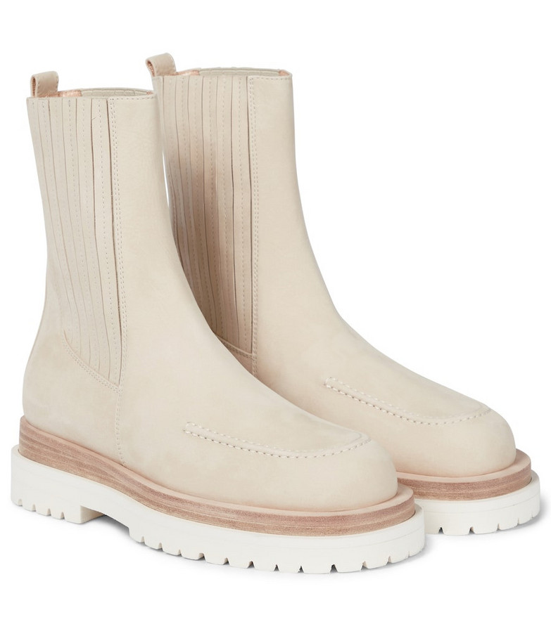 Magda Butrym Paneled leather combat boots in white
