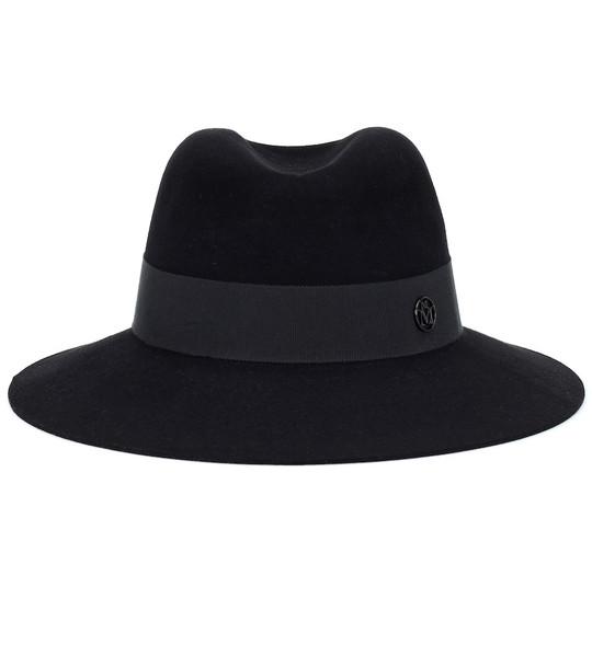 Maison Michel Henrietta wool-felt fedora in black