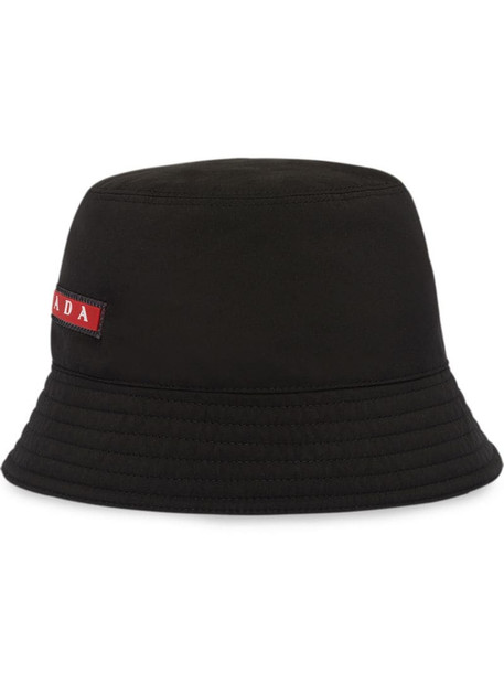 Prada technical fabric hat in black