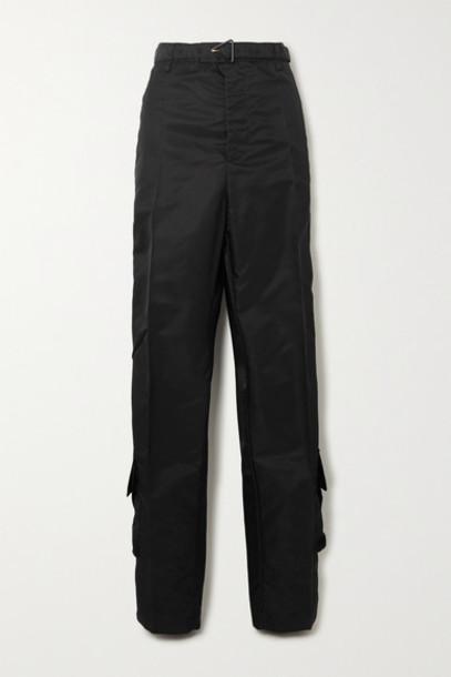 Bottega Veneta - Satin-gabardine Straight-leg Cargo Pants - Black
