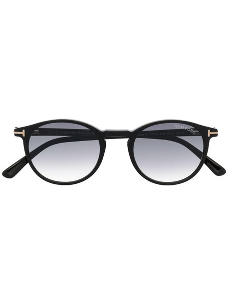 Tom Ford Eyewear Andrea round-frame sunglasses in black