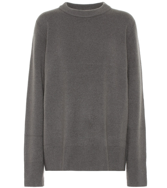The Row Sibina wool and cashmere sweater in grey