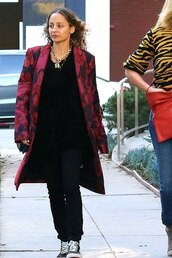 coat,nicole richie,pants,celebrity,streetstyle,fall outfits