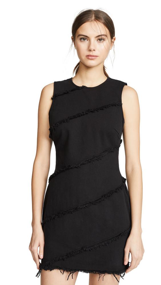Denim x Alexander Wang Diagonal Seamed Dress in black