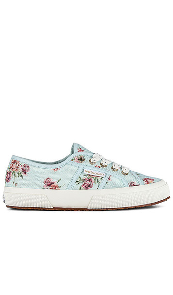 Superga x LoveShackFancy Classic 2750 Sneaker in Baby Blue